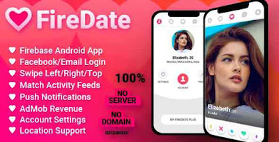 Download FireDate v1.0.2 - Android Firebase Dating Application