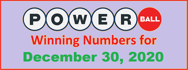 PowerBall Winning Numbers for Wednesday, December 30, 2020