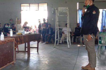 KPU Labuhanbatu  Bersama PPK Kecamatan Bilah Barat Melaksanakan Simulasi PUTUNGSURA