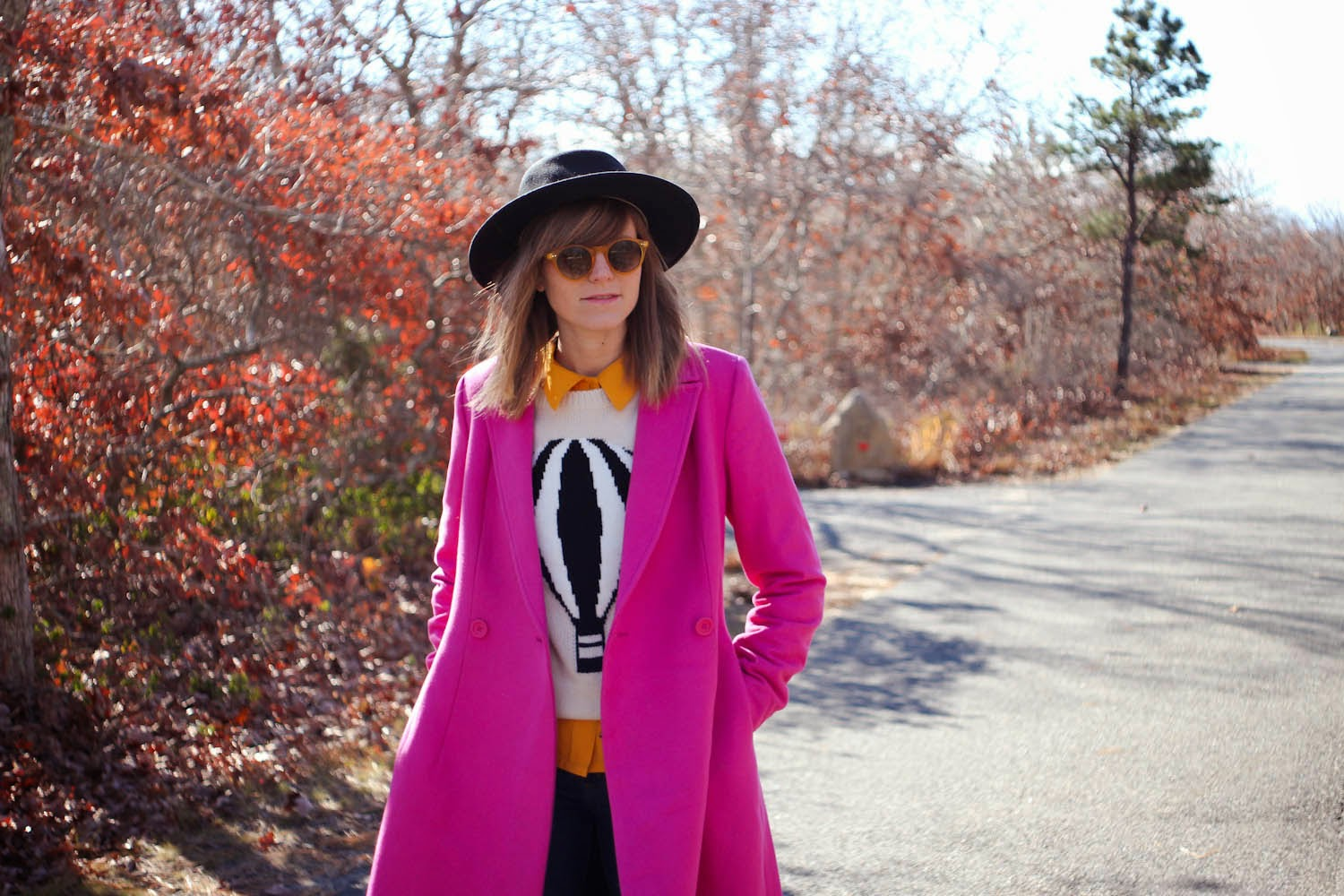 kate spade saturday a-line coat, hot air balloon sweater, nyc blogger, nyc fashion blogger, vintage fashion blog, nyc vintage blog