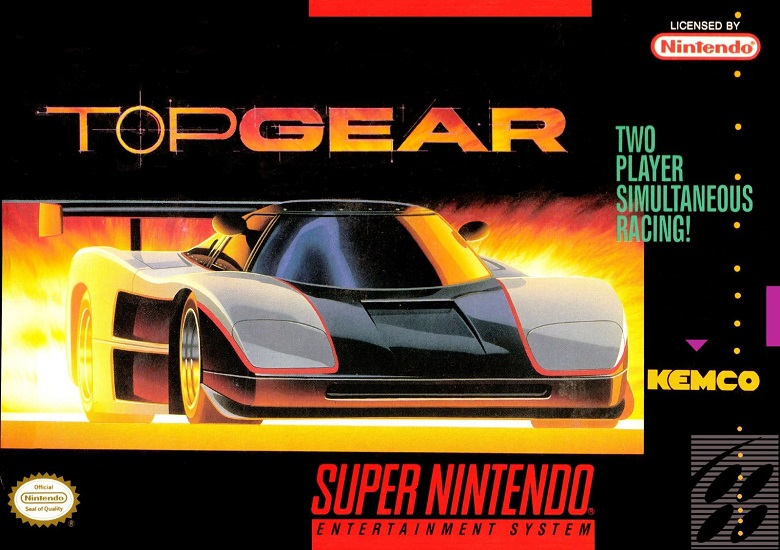 Box art for Top Gear for SNES
