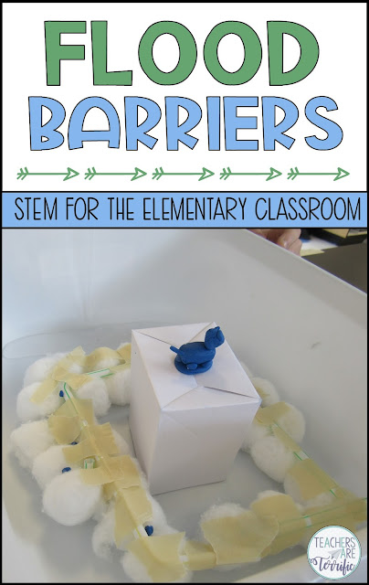 This is another STEM challenge that features experimenting first and then designing using the experiment data to make decisions! This one is a spectacular event that will have kids measuring liquids, analyzing data, and then building a barrier to control a small flooding event.