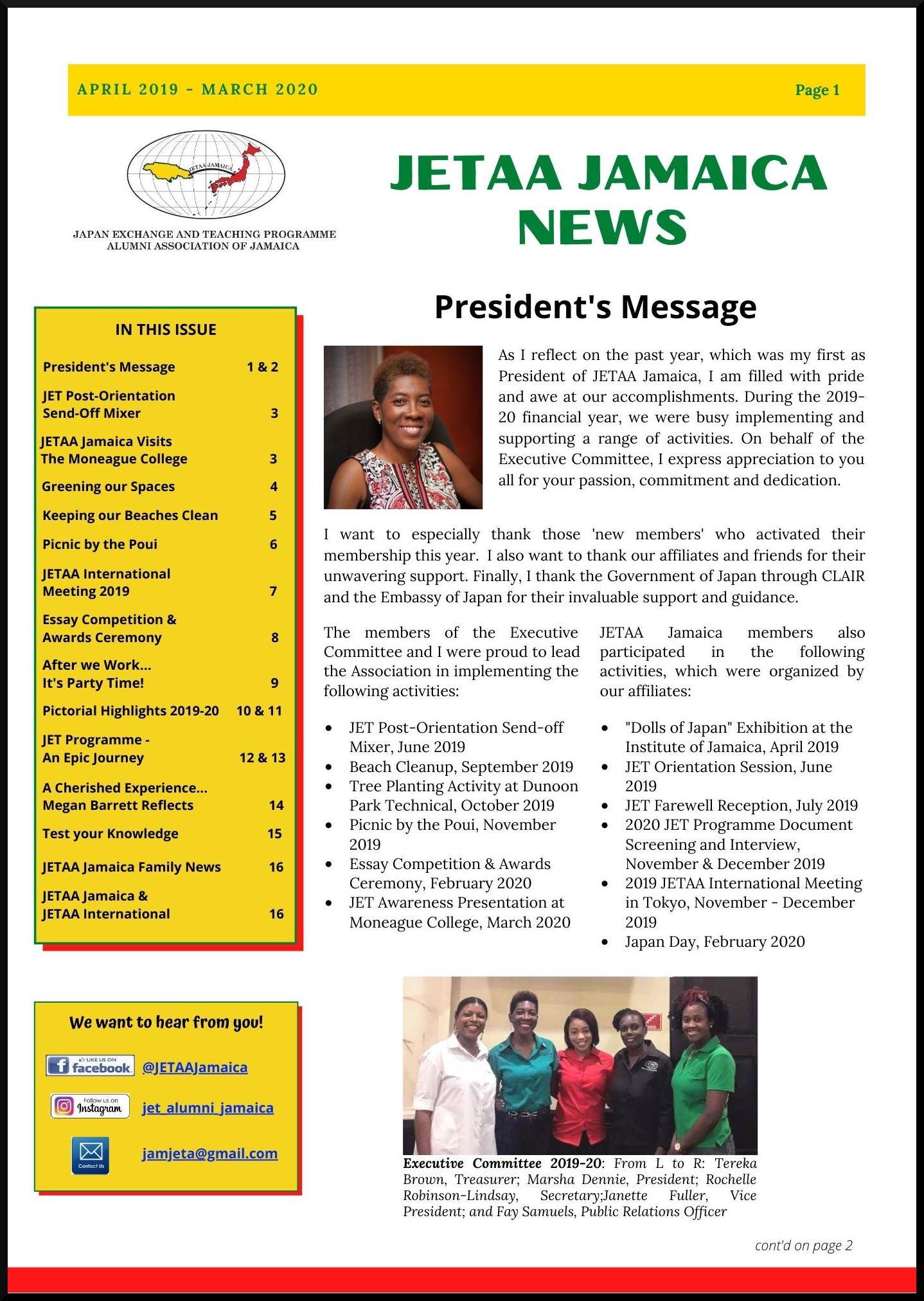 JETAA Jamaica Newsletter