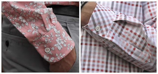 Side-by-side comparison of cuffs and plackets on the All-Day Shirt and Fairfield Button-Up shirt patterns.