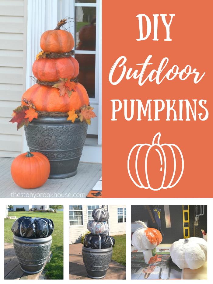 DIY Outdoor Pumpkins