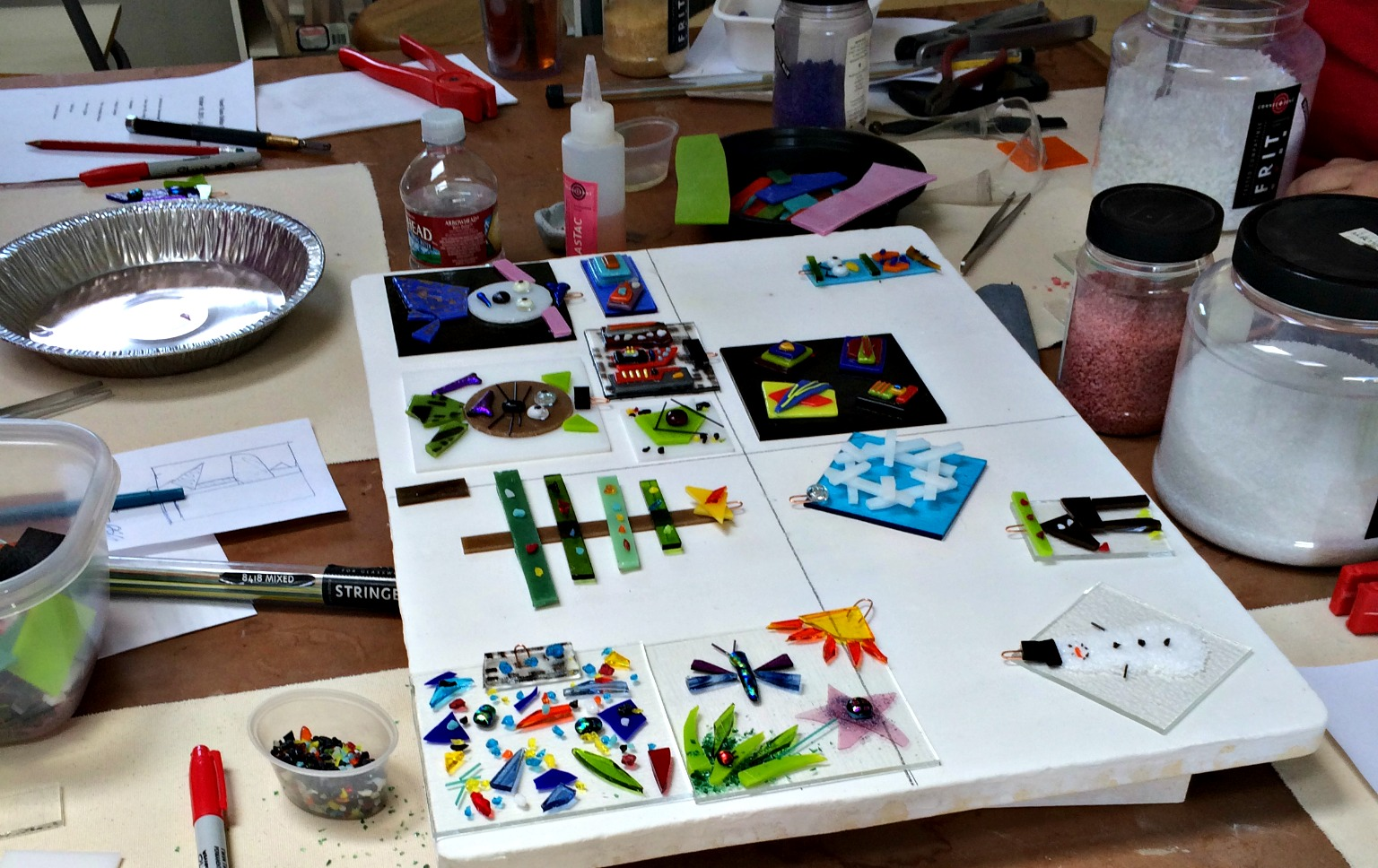 so its time to announce my goals for the coming year in 2016 i will be putting together a schedule of classes and will promote the heck out of them on my - Fused Glass Christmas Ornaments