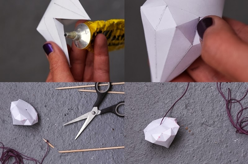 Diy Origami Diamanten Aus Papier Falten Nicest Things