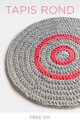 Tapis rond au crochet