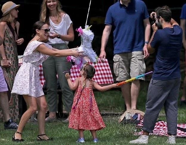 Natalie Portman enjoying her daughter's birthday
