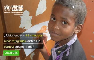 Ayuda a los refugiados con Acnur