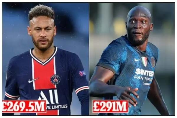 Lukaku to overtake Neymar as most expensive player ever