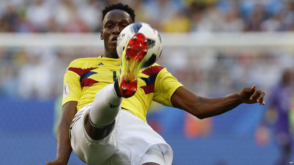 Jerry Mina convierte otro gol en Rusia / AP