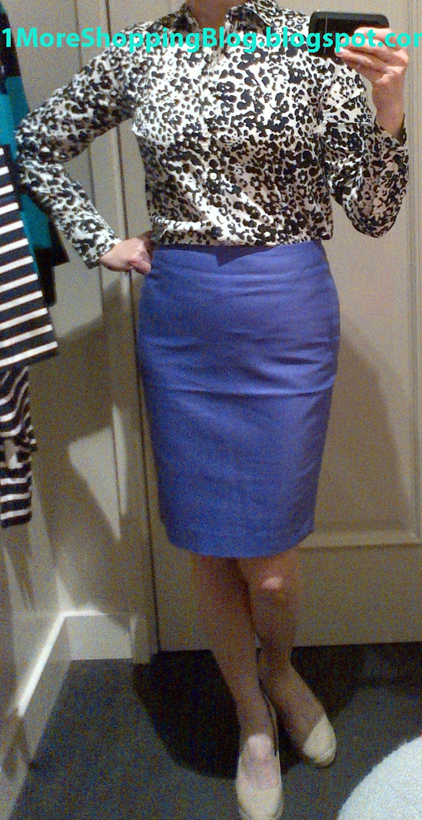 4a25fa8545 The skirt is the No. 2 Pencil Skirt in Double-Serge Cotton size 2 and  'marrakech purple.' It looks blue on my monitor, but it is purple in real  life.