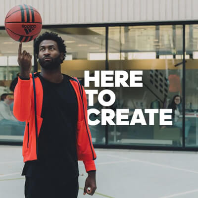 photo from the #HereToCreate marketing campaign