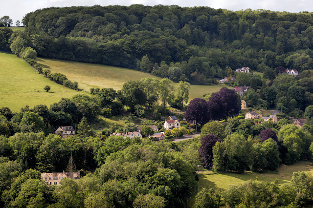 Nestled in a West Cotswold valley the beautiful village of Cranham is lit by the morning sunshine