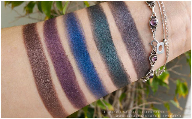 makeup swatches Smoked Palette Urban Decay
