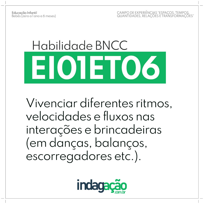 Habilidade EI01ET06 BNCC
