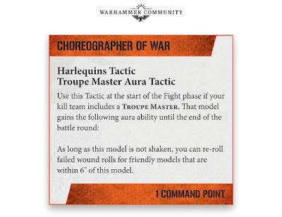 Tácticas Comandantes Arlequines kill team