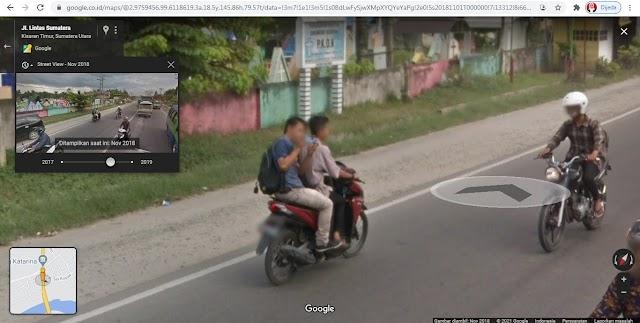Memotret Mobil Google Street View