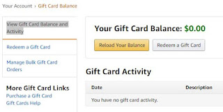 "Click On ""View Gift Card Balance and Activity"""