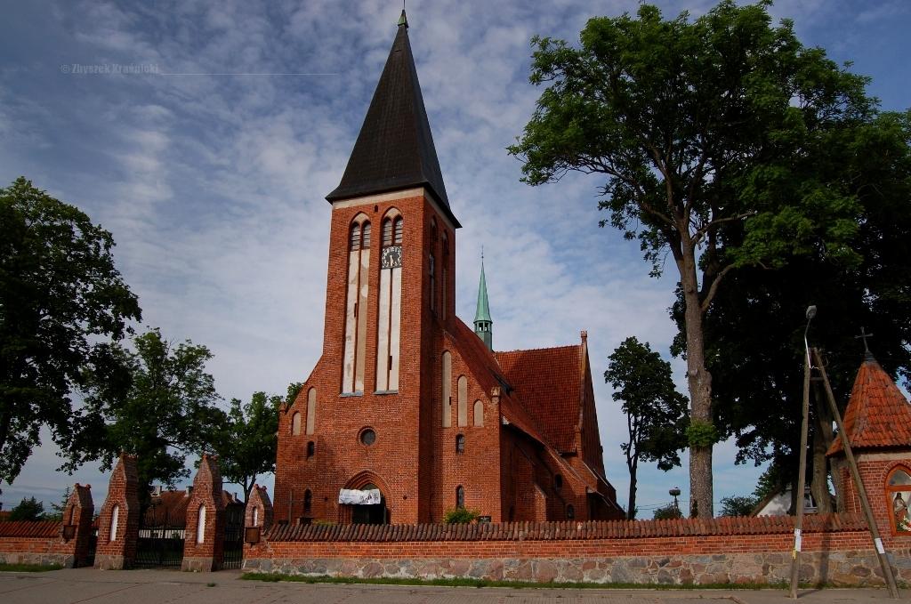 Neogotycki kościół w Żegotach na Warmii