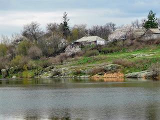 Бобринець. Берега річки Бобринки