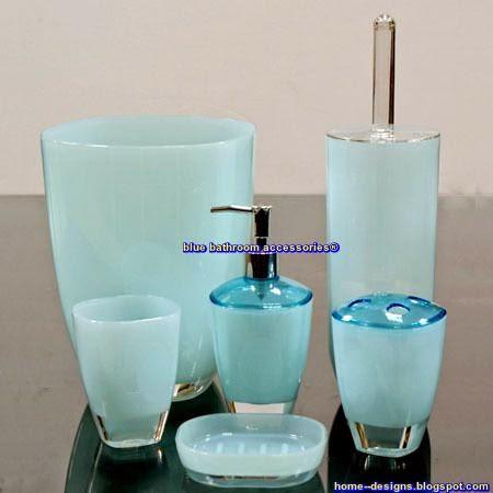 Tips Create A More Blue Bathroom Accessories