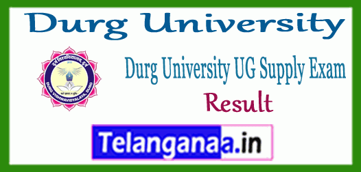 Durg University Supplementary UG 1st 2nd 3rd Result
