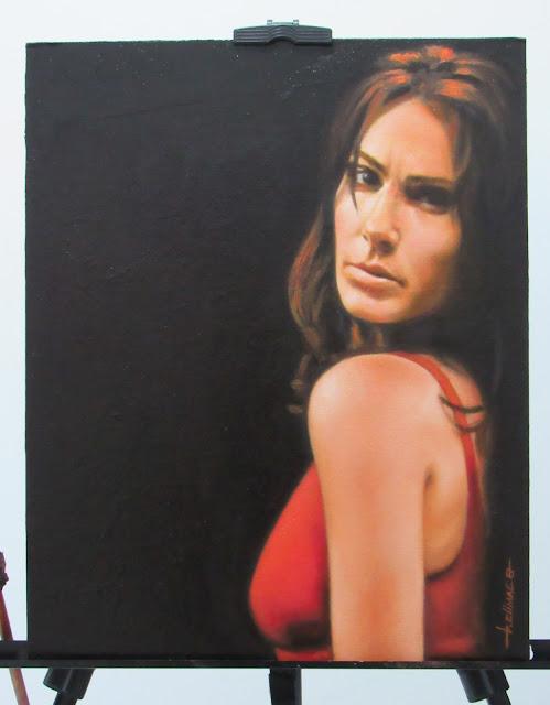 Retrato a óleo Rita de Cássia