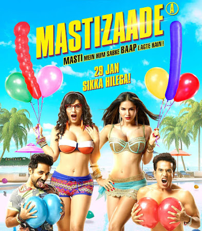 Poster Of Bollywood Movie Mastizaade (2016) 100MB Compressed Small Size Mobile Movie Free Download movies365.in