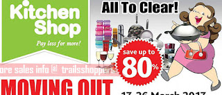 Kitchen Shop Moving Out Clearance Sales