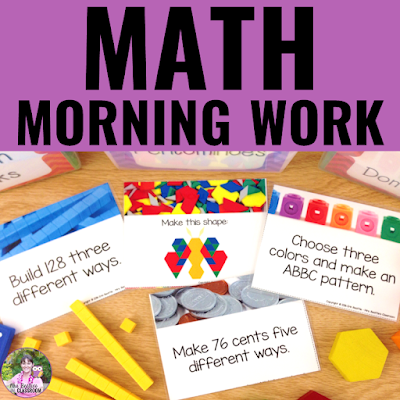 Cover of Math Morning Work resource