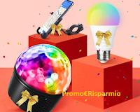 Logo Vinci gratis porta cellulare per bicicletta, luci disco o lampadina bluetooth