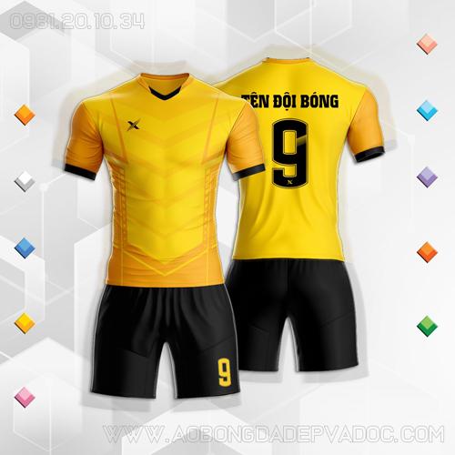 Áo Đấu Không Logo Mã XYZ-02 Màu Vàng