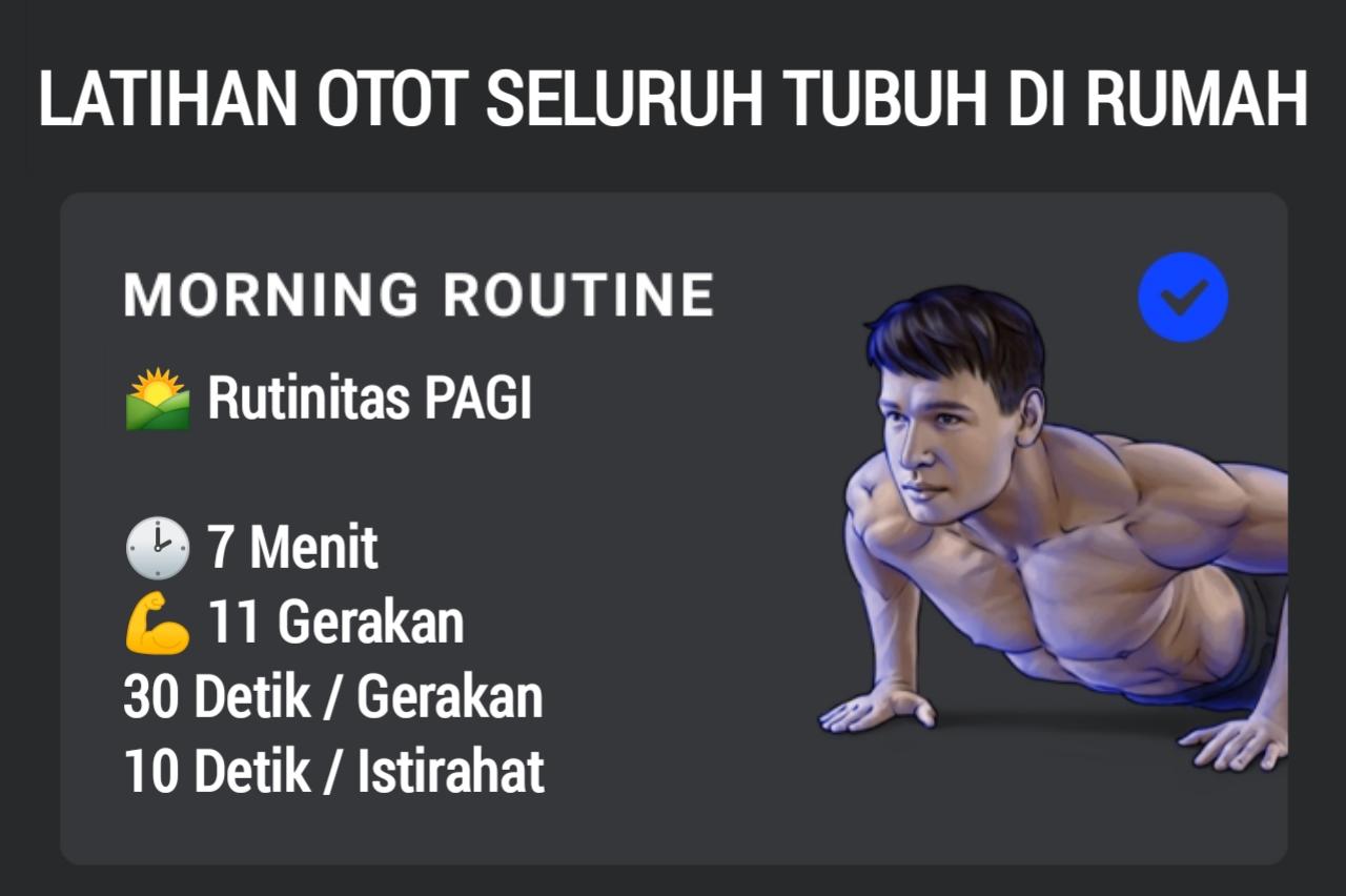 Rutinitas Pagi Latihan Otot Seluruh Tubuh Yang Bisa Dilakukan di Rumah