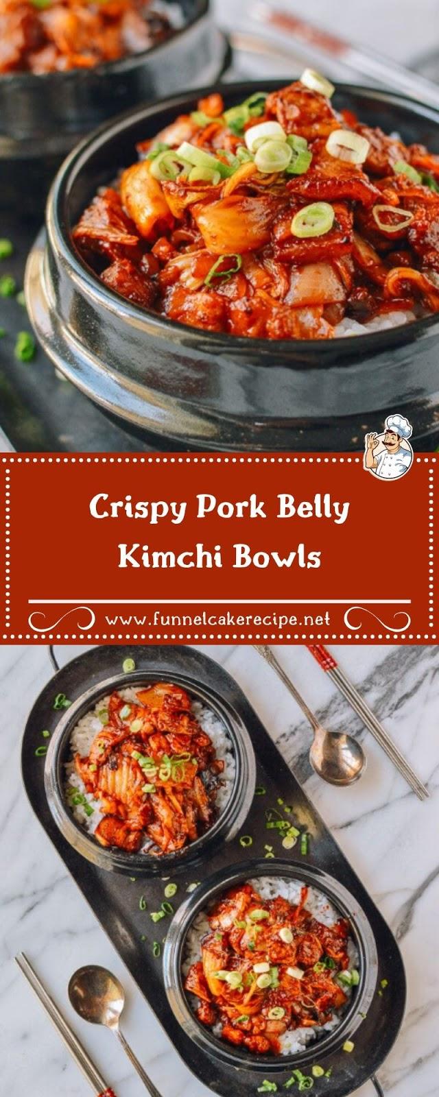 Crispy Pork Belly Kimchi Bowls
