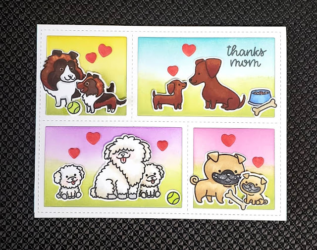Sunny Studio Stamps: Puppy Parents Customer Card by Jacqueline Valade