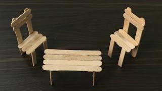 Cara Membuat Kursi dari Stik