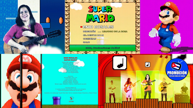 Enid Rosales - ¨Súper Mario¨ - Videoclip Animado - Director: Leandro de la Rosa. Portal Del Vídeo Clip Cubano. Música cubana. Cuba.