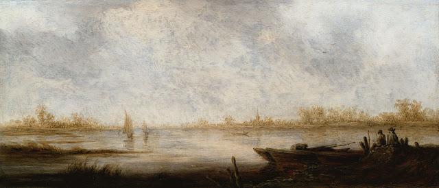 Альберт Кёйп - Речной пейзаж. ок1640