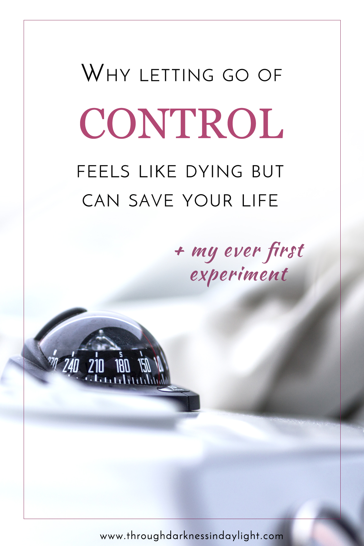 Why letting go of control feels like dying but can save your life
