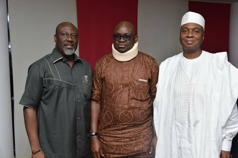 Fayose Visits Saraki, Ekweremadu In Abuja After The Siege (Pics)