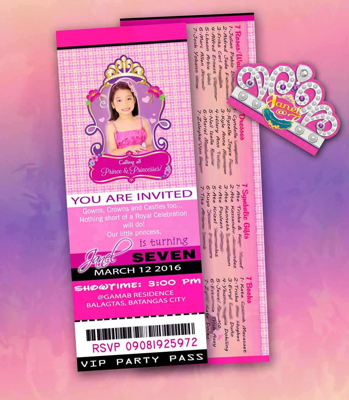 Stain art designs and prints invitation sofia the first invitation pink and violet black invitation girl idea invitation stopboris Choice Image
