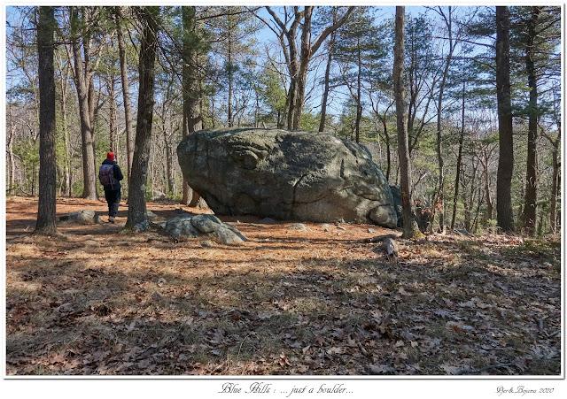 Blue Hills: ... just a boulder...