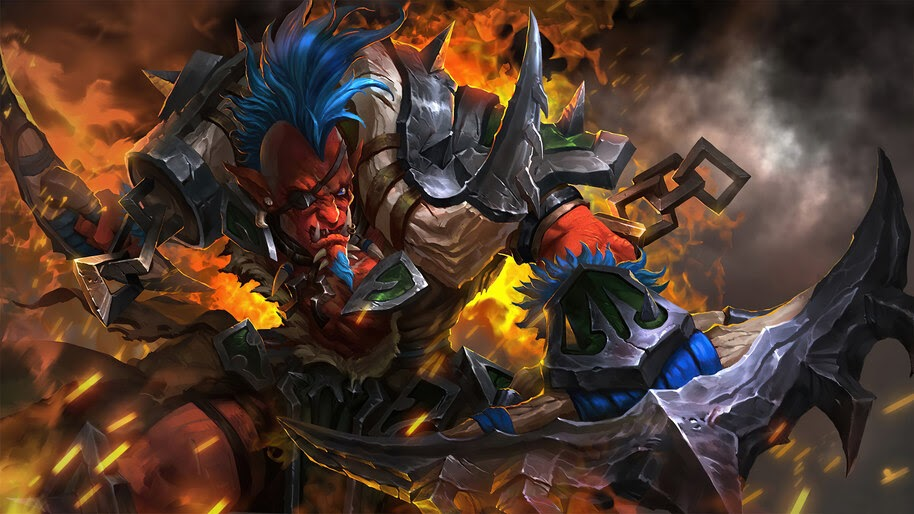 Troll Warlord, Dota 2, Chieftain of the Ironblade, Set, 4K, #5.2085