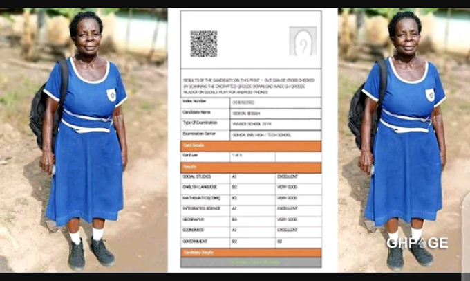 [must read] Results of Grandma who sat for 2020 BECE surfaces on social media