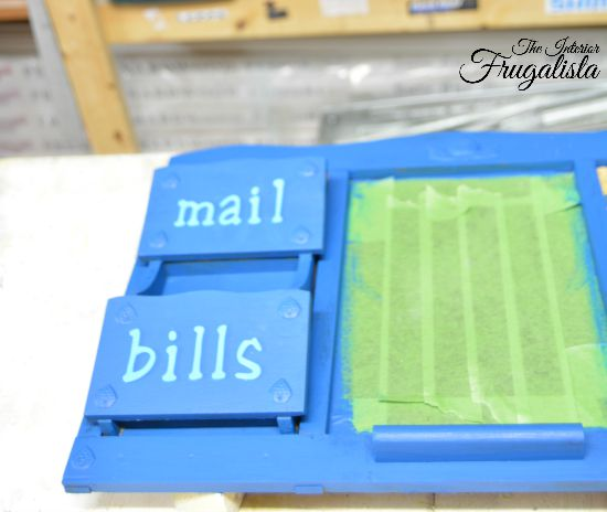 Upcycled Family Command Center Mail Sorter
