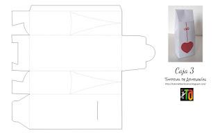 Moldes de Tutorial de Artesania, caja con solapa