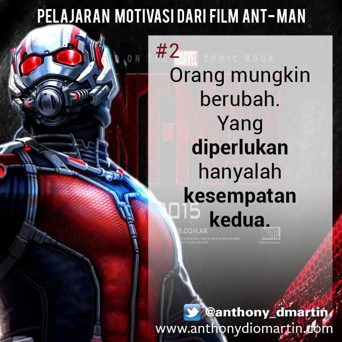 8 PELAJARAN MOTIVASI DARI FILM ANT MAN