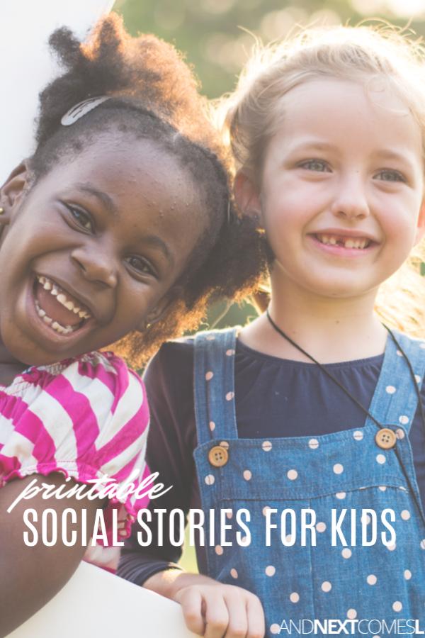 Tons of printable social stories for kids and social story templates